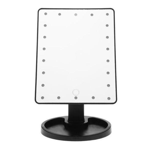 PINkart-USA Black 22 LED Professional Led Touch Screen Makeup Mirror Luxury Mirror With 16/22 Led Lights 180 Degree