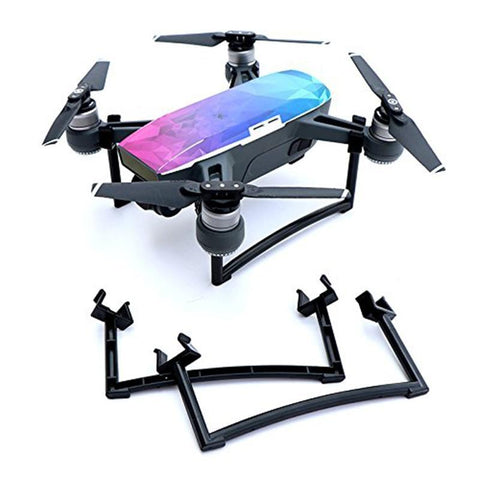 PINkart-USA Black 2Pcs Dji Spark Drone Landing Gear Kits 25Mm Heighten Landing Feet Leg Bracket Camera Gimbal