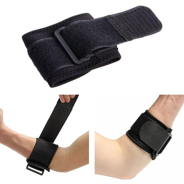PINkart-USA Black Adjustable Tennis Fitness Elbow Support Strap Pad Sport Golf Pain Forearm Support Band Knee