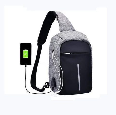 PINkart-USA Black Backpack Men Anti Theft Lock Small School Bags Male Travel Backpacks With Headphone External Usb Charge Perforation Travel Bag
