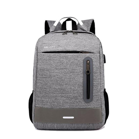 PINkart-USA black Black Gray Business 15'' Laptop Backpack For Men Waterproof Nylon Usb Charging Travel Backpack School Bags Back Pack Rucksack