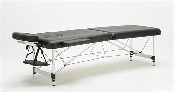 PINkart-USA Black Color Massage&Relaxation Aluminum Portable Relaxing Massage Table With Adjustable Face Cradle Spa Bed