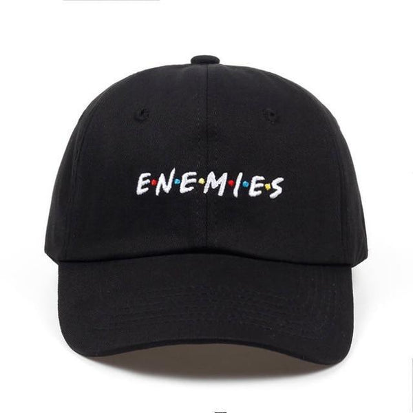 PINkart-USA black ENEMIES Hot Selling Cotton% Popular Letters Embroidery Dad Hats Adjustable Men Women Baseball Cap Hat