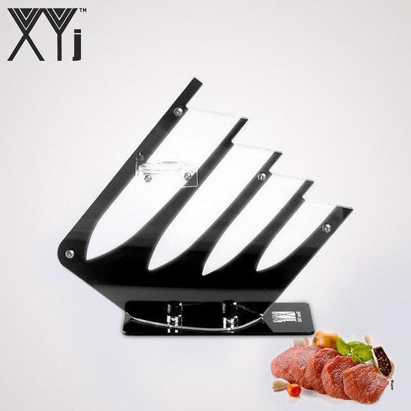 PINkart-USA Black for 4knives XYj Kitchen Ceramic Knife Holder 4Pcs/5Pcs Knife Set Knife Blocks Durable Acrylic Kitchen Knive Stand Kitchenware Accessories