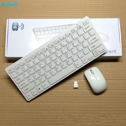 PINkart-USA Black Kemile 2.4G Mini Wireless Keyboard And Optical Mouse Combo Black/Whit For Samsung Smart Tv