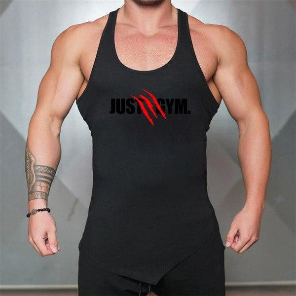 PINkart-USA Black / L Men Bodybuilding Tank Tops Gyms Sleeveless Shirts Fitness Clothing Singlet Cotton Summer Fashion