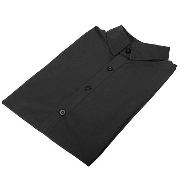 PINkart-USA black / M / China Long Sleeve Slim Men Dress Shirt Arrival Fashion Designer High Quality Solid Male Clothing Fit