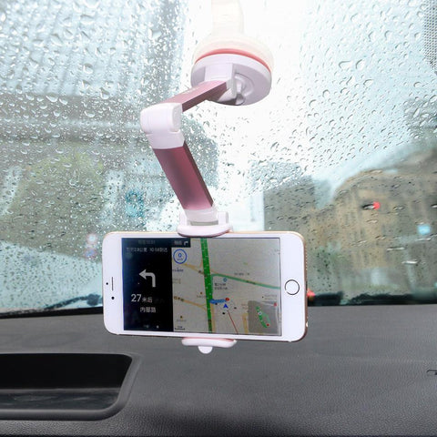 PINkart-USA Black Mobile Phone Desk Stand For Iphone 8 7 6S Suction Cup Car Mount Holder For Samsung S8 Flexible Long