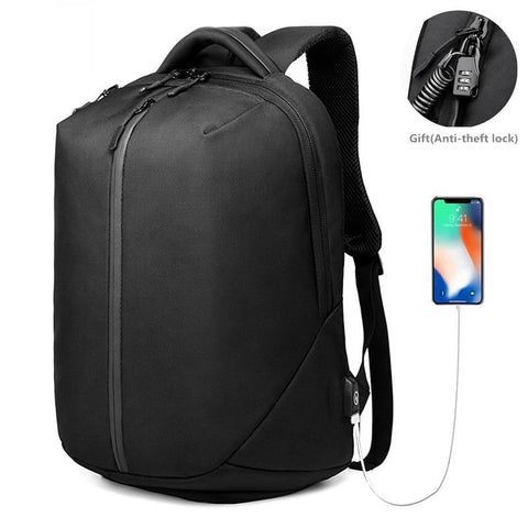 PINkart-USA black Ozuko New Laptop Backpack Men 1680D Oxford Usb Charging Travel Backpack Anti Theft Waterproof Zipper Fitness Bag Shoes Pocket
