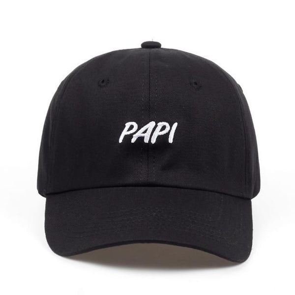 PINkart-USA black PAPI2 Hot Selling Cotton% Popular Letters Embroidery Dad Hats Adjustable Men Women Baseball Cap Hat