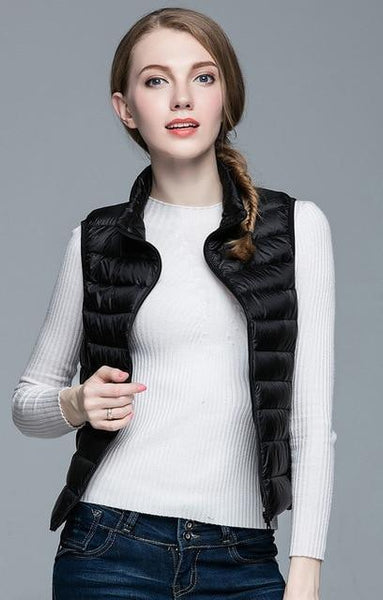 PINkart-USA Black / S Winter Women 90% White Duck Down V Women'S Ultra Light Duck Down V Jacket Autumn Winter