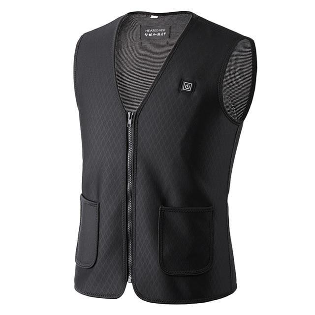 PINkart-USA Black / XXL / China Hot Sale Men Women Electric Heated Vest Heating Waistcoat Hiking Hunting Vests Usb Thermal Warm