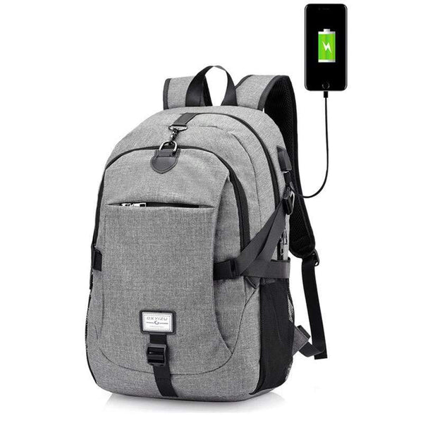 PINkart-USA black0223 Men'S Backpack Oxford Multifunction Usb Charging Backpack Student School Backpack Travel Bag For Boys Laptop Backpacks Male