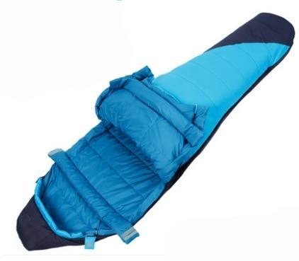 PINkart-USA blue 1200g / China Down Sleeping Bag Adult Spring And Autumn Seasons Outdoor Camping Thickening Warm Indoor Feather