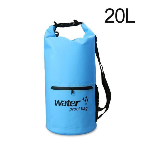PINkart-USA Blue 20L Pvc 5L 10L 20L Outdoor Waterproof Bag Dry Bag Swimming Bag Sack Storage For Travelling Rafting