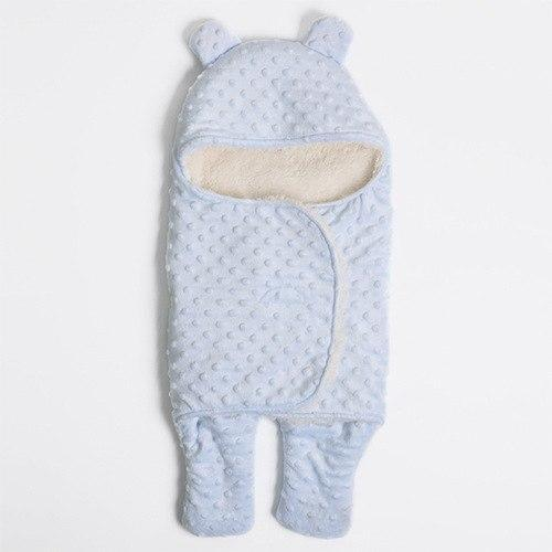 PINkart-USA Blue Big Hot Sale Baby Sleeping Bag Knitted Solid Swaddle Blanket Footmuff Sleepsacks Winter Warm Infants'