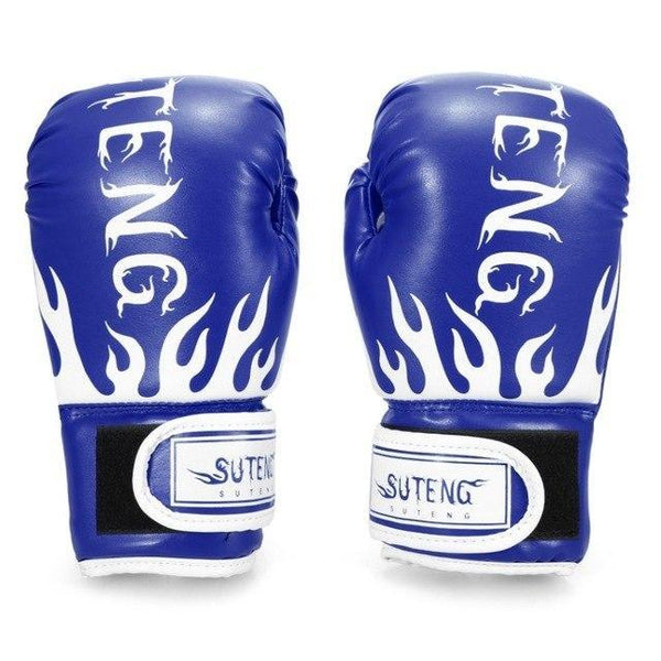 PINkart-USA Blue Boxing Gloves For Children Breathable Safety Boxing Training Leather Gloves For Child Fitness