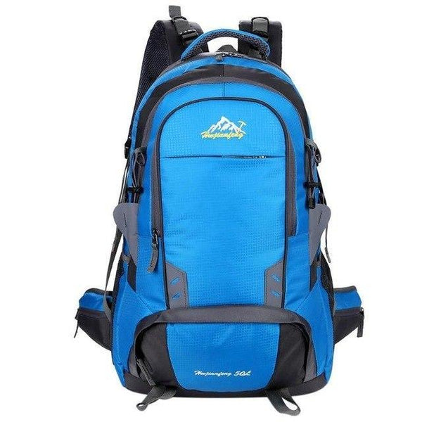 PINkart-USA Blue Color 50L Waterproof Nylon Climbing Hiking Backpack Rain Cover Bag Camping Bike Mountaineering Backpack