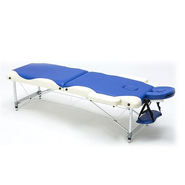 PINkart-USA Blue Color Massage&Relaxation Aluminum Portable Relaxing Massage Table With Adjustable Face Cradle Spa Bed