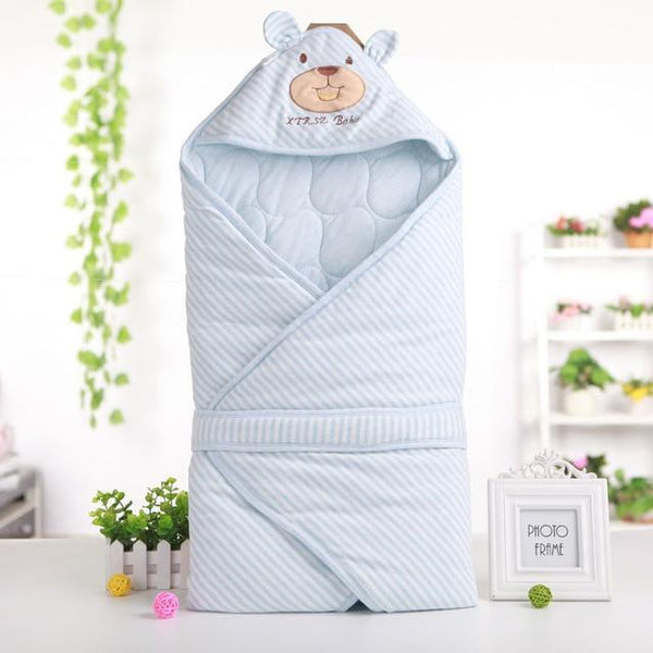 PINkart-USA Blue Cute Bear Shape Baby Sleeping Bag Blanket For Autumn Spring Soft Comfortable Cotton Infant