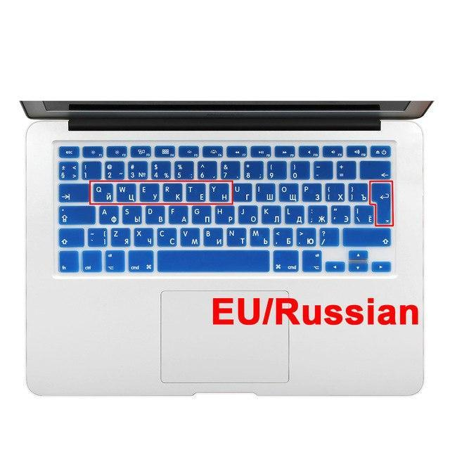 US Enter Russian Alphabet Silicone Keyboard Cover for MacBook Air 13 Pro 13 15 17 Inch Retina-Purple