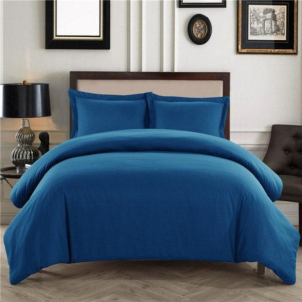 PINkart-USA Blue / King 3Pcs/Set Home Textile Sundial Quilt Cover Pillowcase Bedding Sets Adult Beddingset Polyester