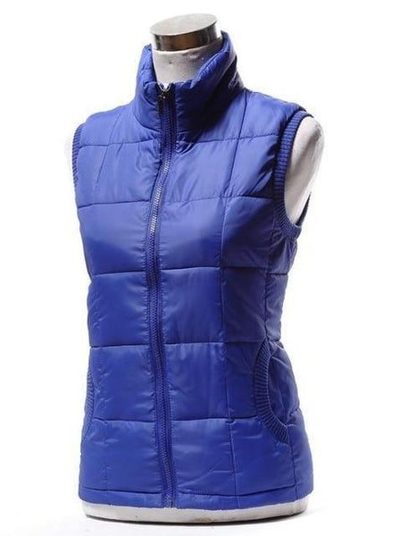 PINkart-USA blue / L Autumn Winter Women Cotton V Collar Warm Down Coat Women Warm Cotton Jacket Designer Sleeveless