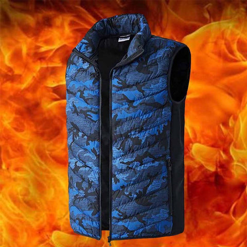 PINkart-USA Blue / L Liilaimic Men Women Electric Heating V Winter Thermal Warm Heated Jacket Fishing Big Size L-6Xl