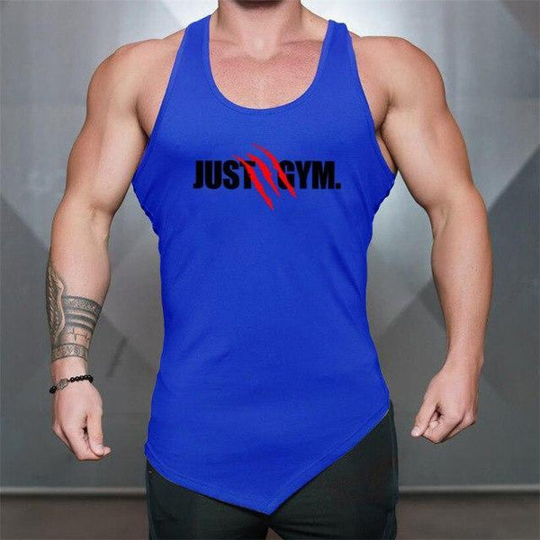 PINkart-USA Blue / L Men Bodybuilding Tank Tops Gyms Sleeveless Shirts Fitness Clothing Singlet Cotton Summer Fashion