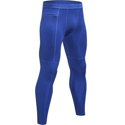 PINkart-USA blue / L New Zipper Pocket Sport Pants For Men Quick Dry Men'S Running Pant Jogging Pant Gym Fitness