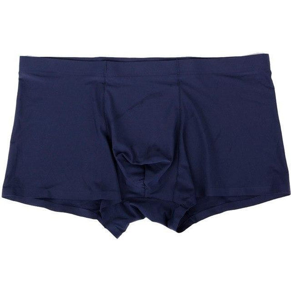 PINkart-USA blue / L Super-Elastic Sexy Men Boxer Soft Breathable Underwear Male Comfortable Solid Underpants Cueca