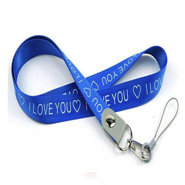 PINkart-USA blue Love Neck Strap For Keys Id Card Mobile Phone Straps For Xiaomi Samsung Huawei Iphone Usb Badge