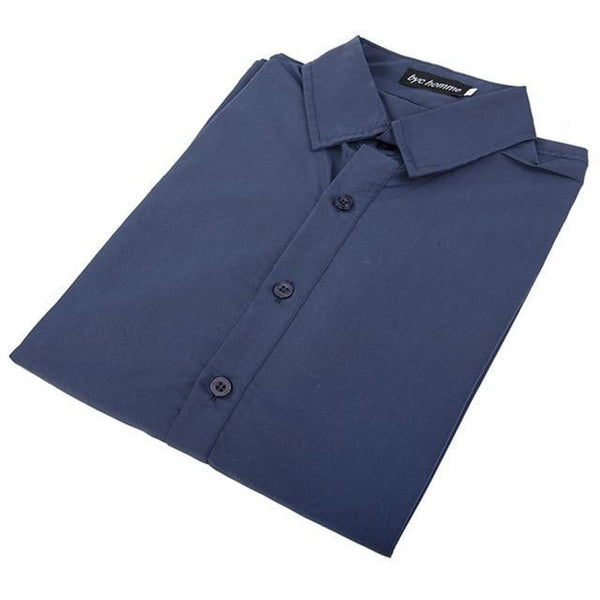 PINkart-USA blue / M / China Long Sleeve Slim Men Dress Shirt Arrival Fashion Designer High Quality Solid Male Clothing Fit