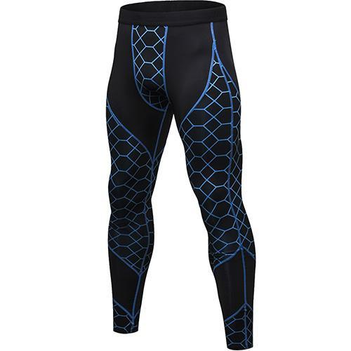 PINkart-USA blue net / L Quick Dry Sports Pants Men High Elastic Jogging Pants Men Outdoor Training Tight Sports Trousers