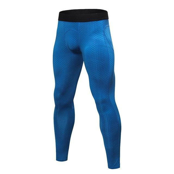 PINkart-USA blue square / S Men Running Pants For Elastic Sport Workout Training Pants Gym Clothing Fitness Tight Sport Jogging