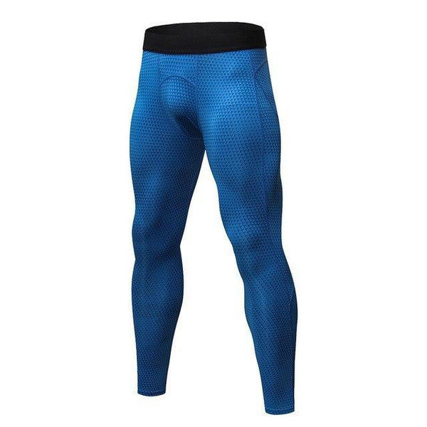 PINkart-USA blue triangle / S Men Running Pants For Elastic Sport Workout Training Pants Gym Clothing Fitness Tight Sport Jogging