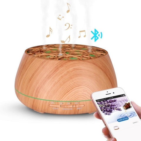 PINkart-USA Bluetooth Speaker Four-hole humidifier for aromatherapy essential oil Waterless Auto Shut-off 7