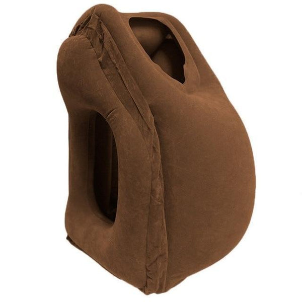 PINkart-USA Brown BT177A / China The Most Diverse & Innovative Inflatable Travel Pillow On Airplane Pillows Neck Pillow Cushion