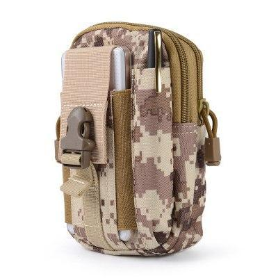 PINkart-USA Brown Outdoor Camping Hunting Accessory 600D Tactical Waist Bag Pouch Military Waist Belt Wallet Sport