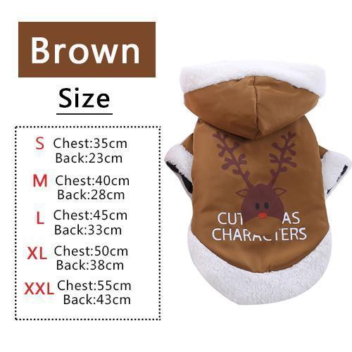 PINkart-USA Brown / XS Pet Dog Cat Autumn Winter Christmas Two Feet Clothes Coat Overalls Costume Warm Jacket