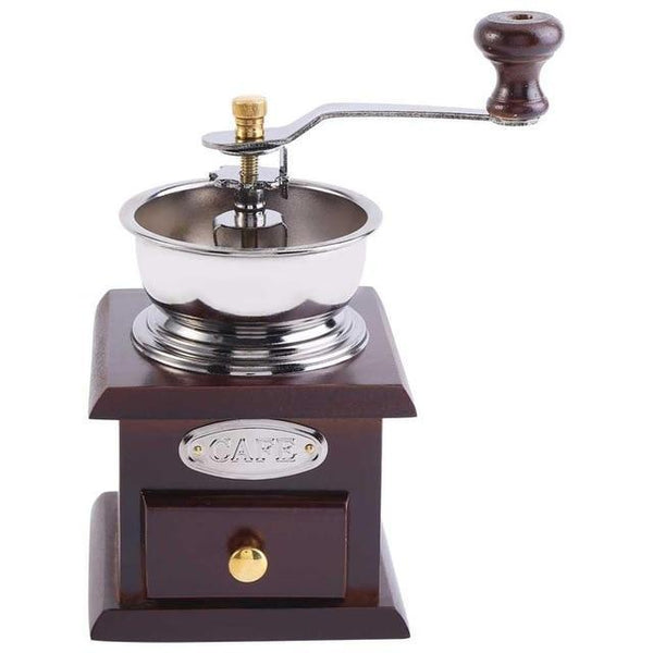 PINkart-USA Burgundy Manual Coffee Grinder Molinillo Cafe With Ceramic Millstone Retro Koffiemo Home Decoration Coffee