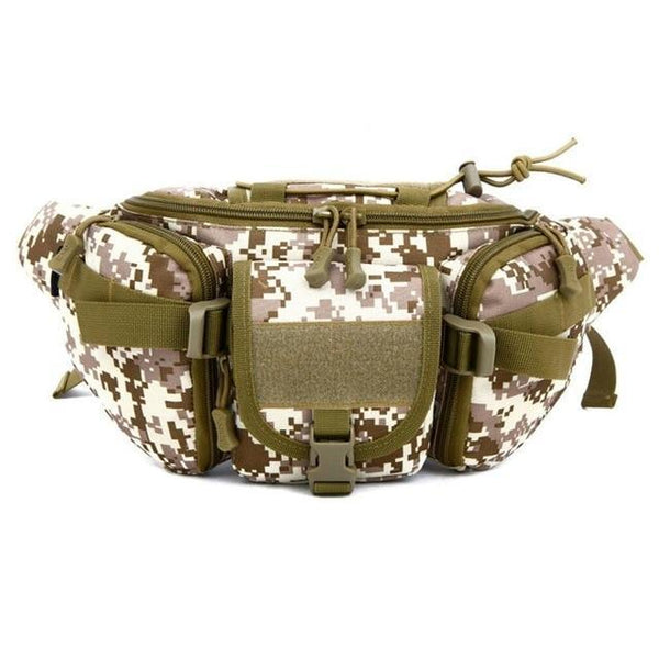 5 Colors Tactical Molle Bag Waterproof Waist Fanny Pack Hiking Fishing Sports Hunting Waist Bags