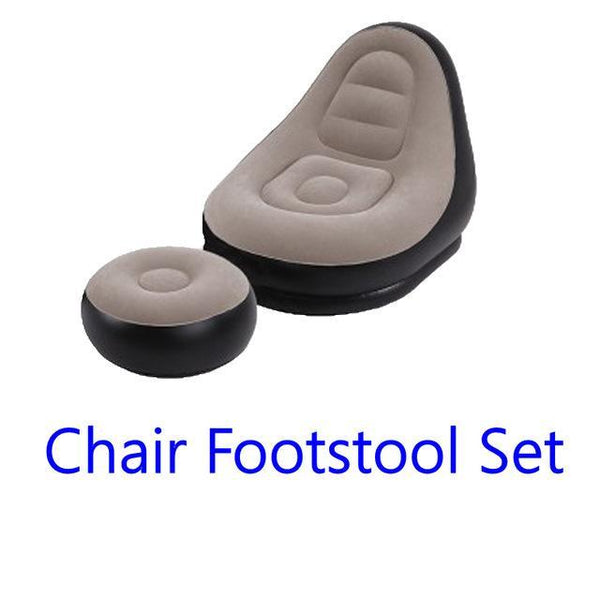 PINkart-USA Chair footstool set / China Pvc Inflatable Sofa With Foot Rest Cushion Stool Garden Lounger Home Leisure Living Room Air Lounge