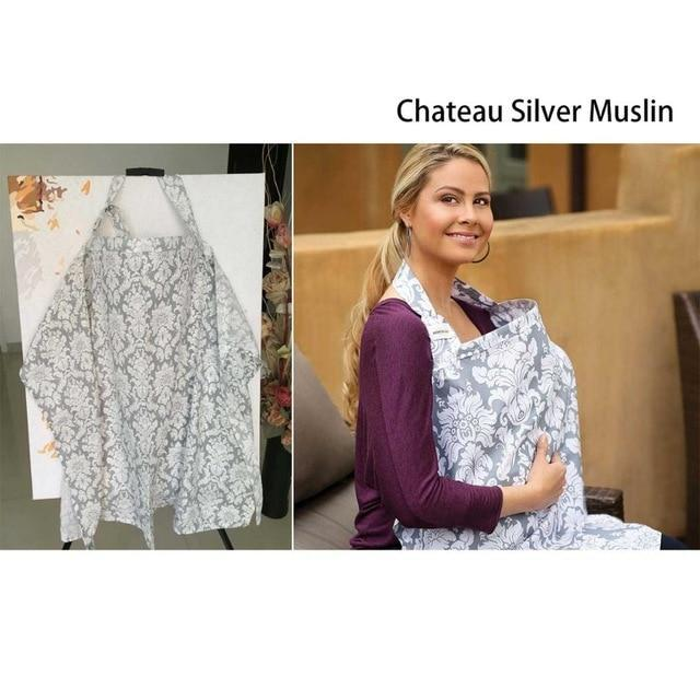 PINkart-USA Chateau Silve muslin Multifunctionl Nursing Cover Mother Breast Feeding Cotton Maternity Nursing Apron Breastfeeding
