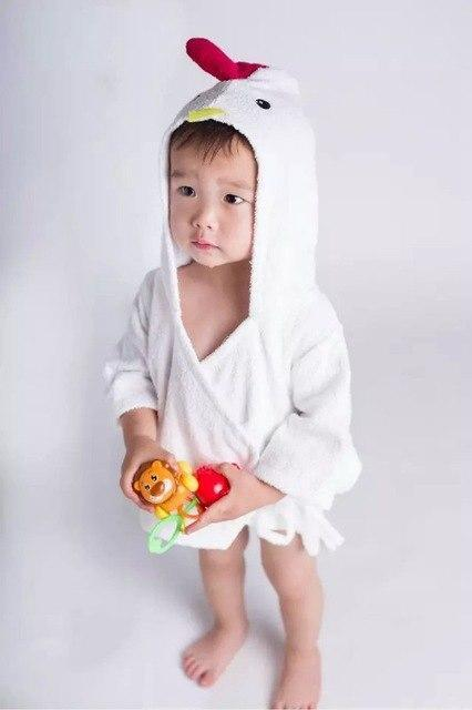 PINkart-USA chick / 9M Infant Animal Modeling Of Home Service Cotton Hooded Bathrobes Children'S Various Shapes Of Animals