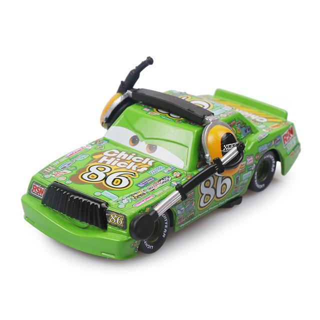 PINkart-USA Chick Hicks Pixar Cars 3 Limited Cruz Ramirez Chick Hicks Lightning Mcqueen 1:55 Diecast Metal Alloy Model