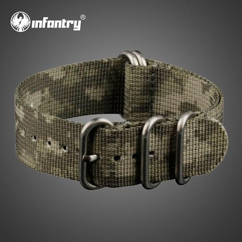 PINkart-USA China / ACU Camo / 22mm 22Mm Nato Strap Zulu Watchband 5 Rings G10 Watch Belt Military Army Watch Band Nylon Diver Bracelet