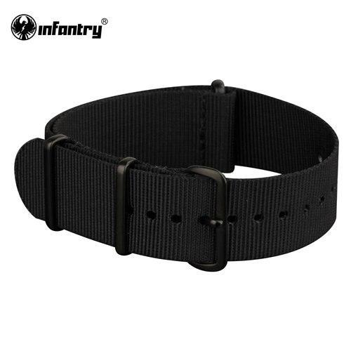 PINkart-USA China / Black / 20mm 20Mm 22Mm Nato Strap Nylon Watch Straps G10 4 Rings Watch Band Belt Military Army Diver Watchband