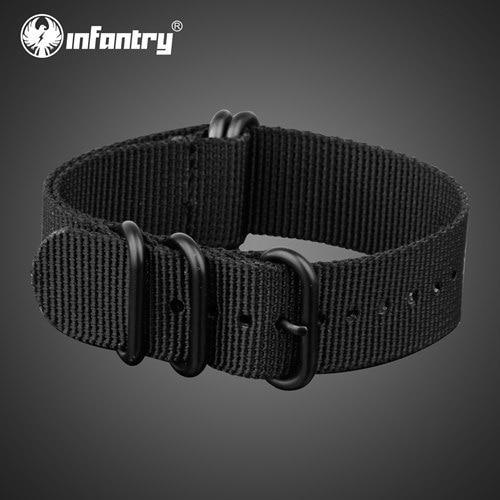 PINkart-USA China / Black / 22mm 22Mm Nato Strap Zulu Watchband 5 Rings G10 Watch Belt Military Army Watch Band Nylon Diver Bracelet