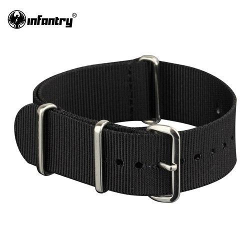PINkart-USA China / Black Silver / 20mm 20Mm 22Mm Nato Strap Nylon Watch Straps G10 4 Rings Watch Band Belt Military Army Diver Watchband